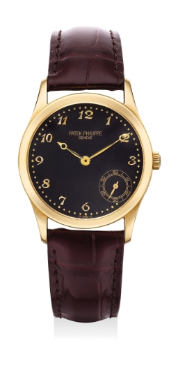 A fine and attractive yellow gold wristwatch with small seconds and Breguet numerals