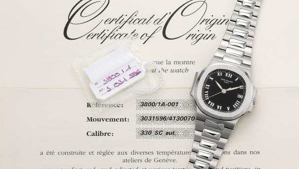 vente pas cher prix réduit nouvelle version Patek Philippe - A fine and rare stainless steel wristwatch ...