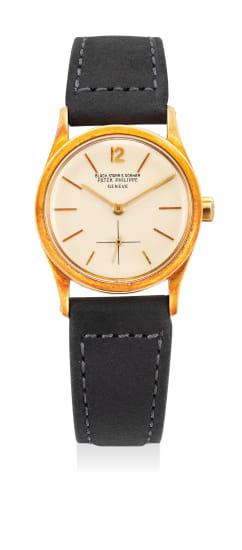 A rare yellow gold wristwatch, retailed by Black, Starr & Gorham