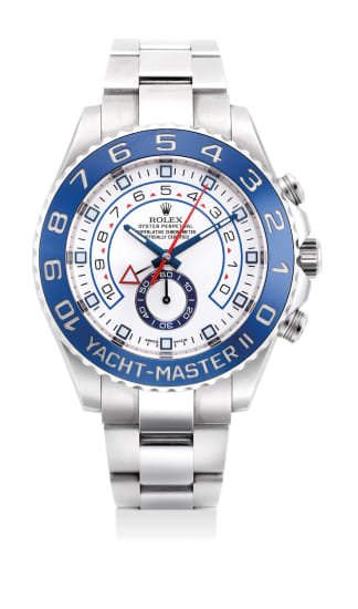 A fine and attractive stainless steel regatta chronograph wristwatch with retrograde countdown, sweep center seconds and bracelet