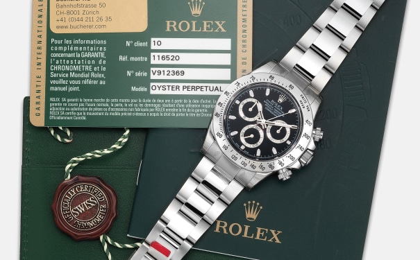 A fine stainless steel chronograph wristwatch with bracelet, guarantee and hang tag
