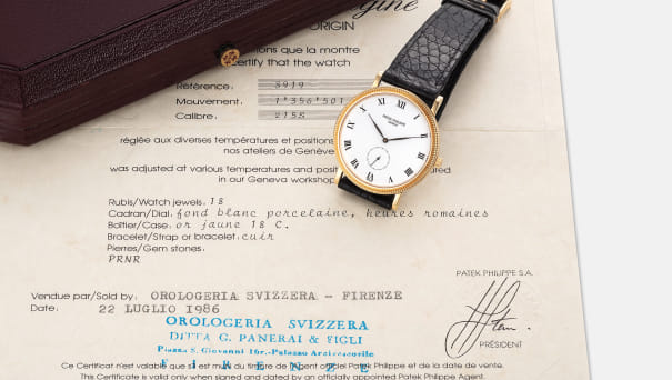 A fine yellow gold wristwatch with certificate of origin and presentation box