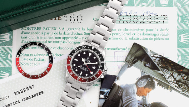 An attractive stainless steel dual time wristwatch with sweep center seconds, date, bracelet, guarantee and box