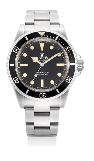 A fine and rare stainless steel diver's wristwatch with bracelet