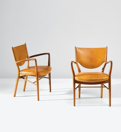 Pair of armchairs, model no. FJ 46