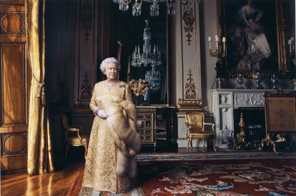 Queen Elizabeth II, The White Drawing Room, Buckingham Palace, London