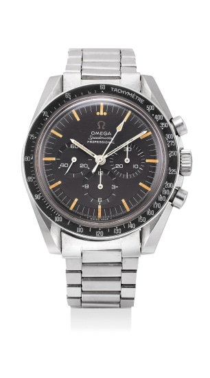 A very fine and attractive stainless steel chronograph wristwatch with bracelet
