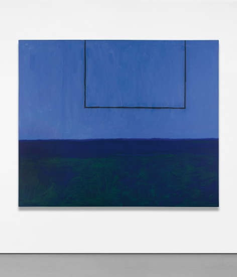 Open No. 119: In Blue with Charcoal Line