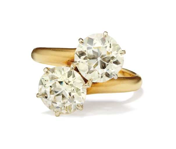 A Diamond, Gold and Platinum Ring
