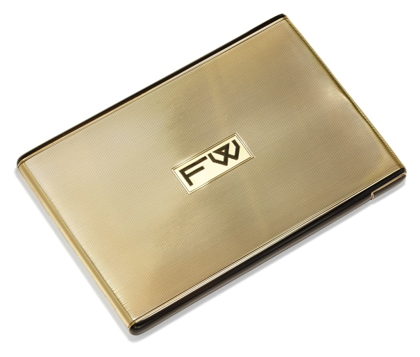 An Art Deco Enamel and Gold Cigarette Case