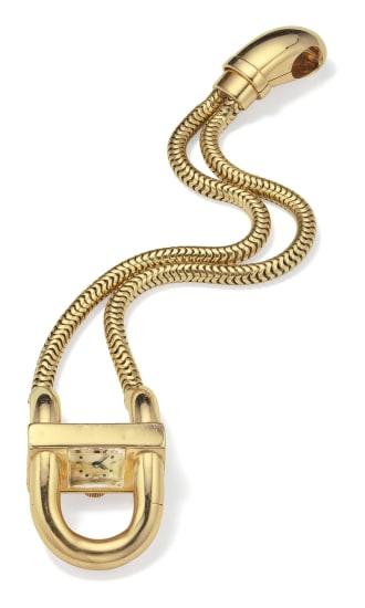 A Retro Gold 'Cadenas' Wristwatch