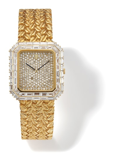 A Diamond and Gold Wristwatch