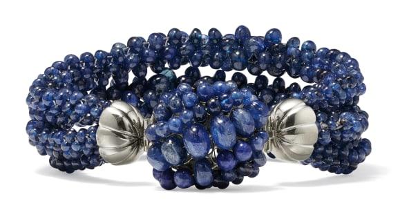 A Sapphire and Platinum Bracelet