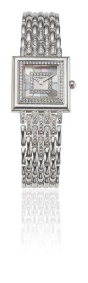 A Diamond and Gold Wristwatch