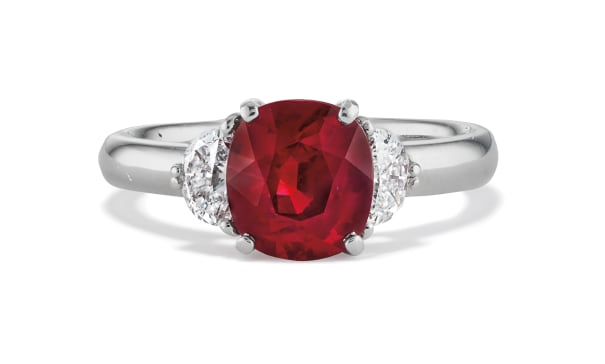 A Ruby, Diamond and Platinum Ring