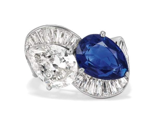 An Important Sapphire, Diamond and Platinum Ring