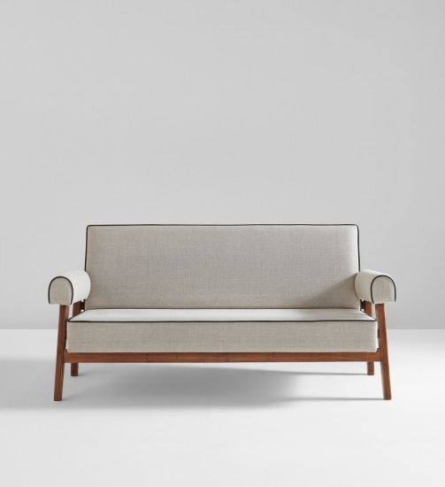 Sofa, model no. LC/PJ-SI-42-B, designed for the High Court and Assembly, Chandigarh