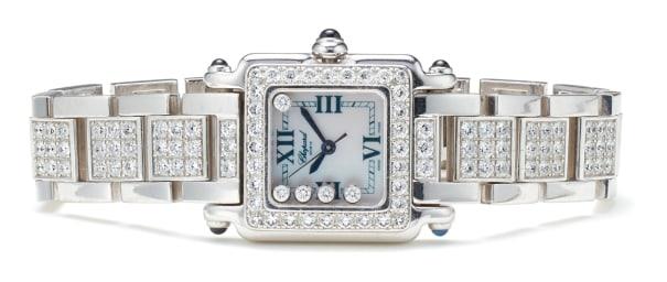 A Diamond and Gold 'Happy Sport' Wristwatch