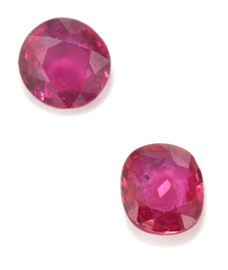 A Set of Unmounted Rubies