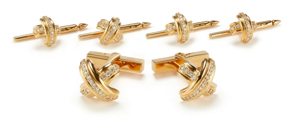 A Diamond and Gold Dress Set