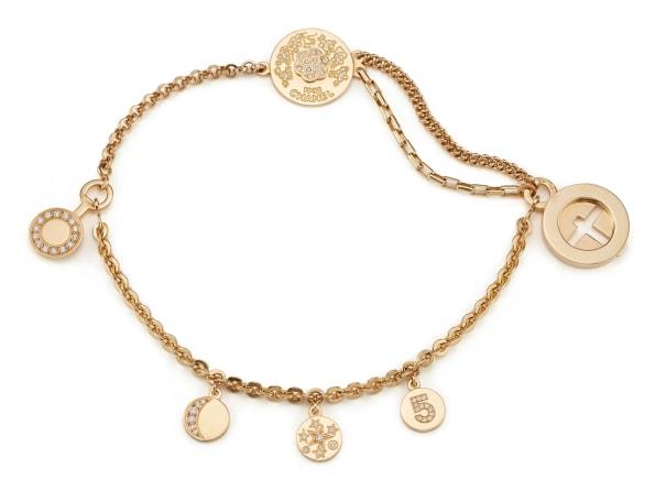 A Diamond and Gold Bracelet