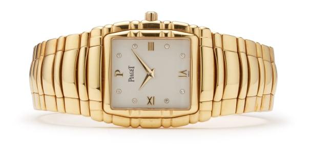 A Diamond and Gold 'Tanagra' Wristwatch