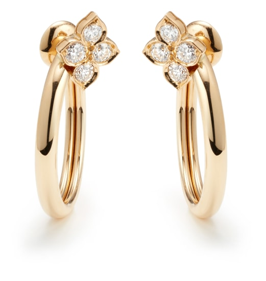 A Pair of Diamond and Gold 'Hindu' Earrings