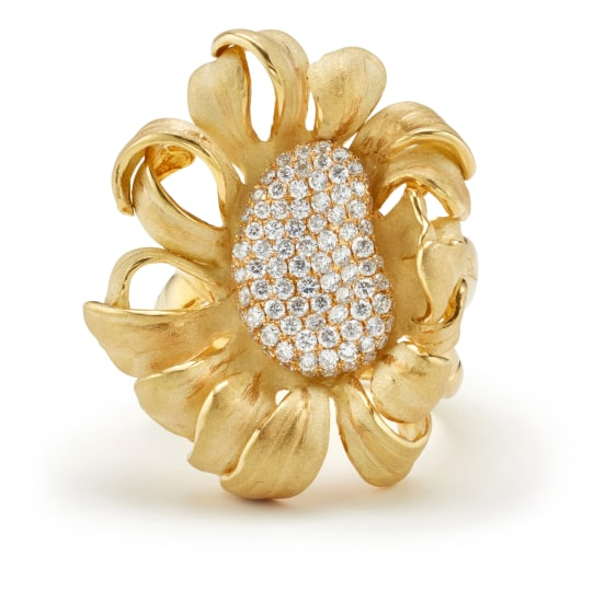 A Diamond and Gold 'Mirage' Ring