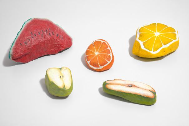 Blakam's stone (watermelon, lemon, orange, pear, apple)