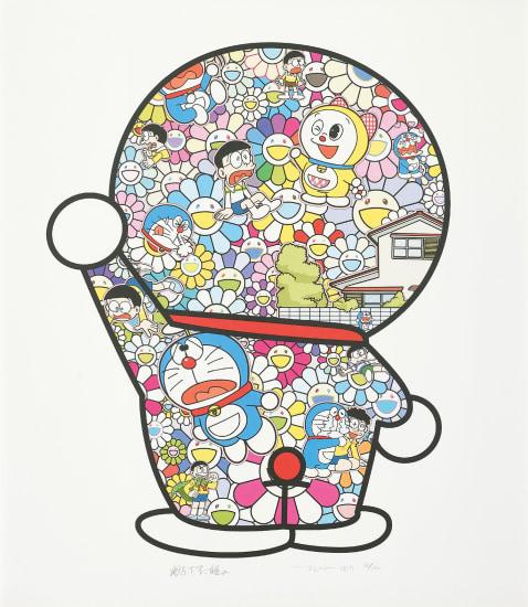 Doraemon in the Field of Flowers