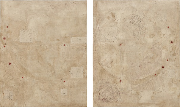 Bone Diptych from the series Post Concentric Episode