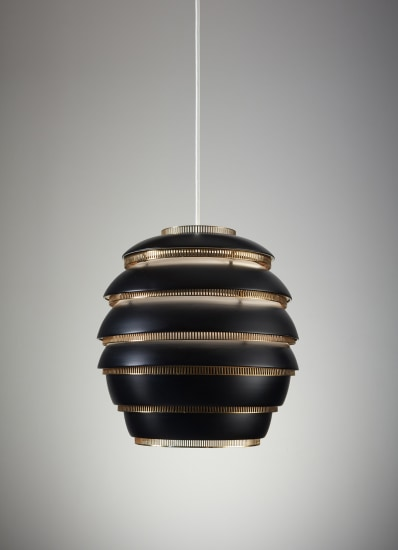 "Early and large ""Mehiläispesä"" (Beehive) ceiling light, model no. A 332, designed for the University of Jyväskylä"
