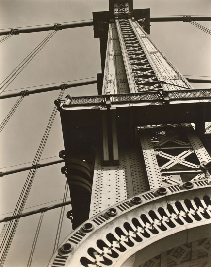 Manhattan Bridge: Looking up from Bowery and Canal Street