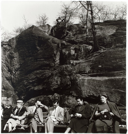 People on a park bench, N.Y.C.