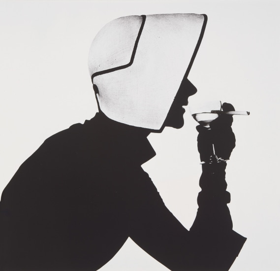 Woman in Dior Hat with Martini (Lisa Fonssagrives-Penn), New York