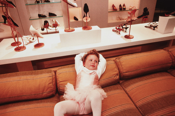 Phoebe, 3, at the VIP opening of Barney's Department Store, Beverly Hills