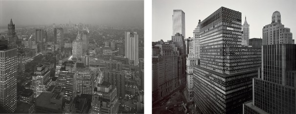 View of First National City Bank Building from Battery Plaza and View Towards Midtown from Wall Street