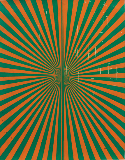 Untitled (Orange and Grass Green Butterfly 45.02)