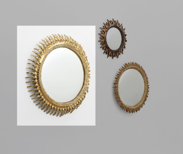 'Soleil torsadé' mirror