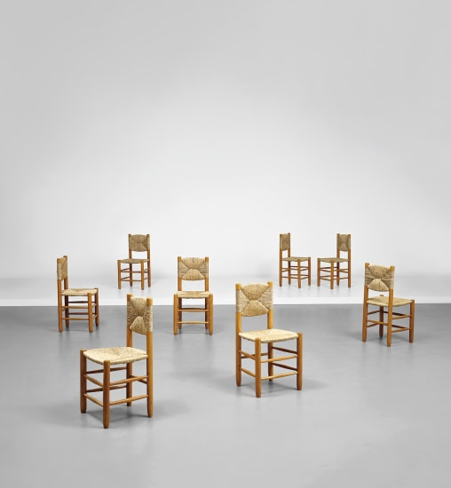 Set of eight side chairs, model no. 18