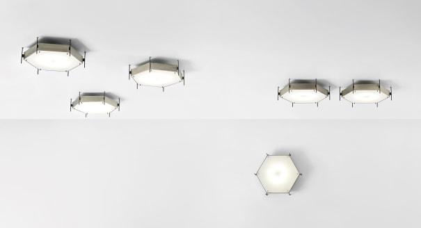 Set of six rare ceiling lights, model no. 12712