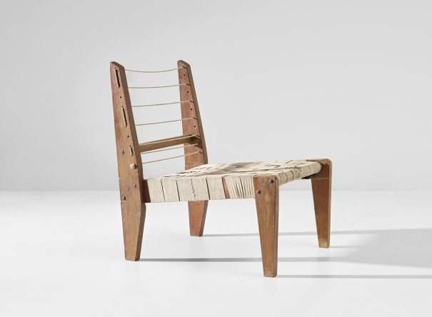 Demountable easy chair, model no. PJ-SI-08-A, designed for the architect's own house, Chandigarh