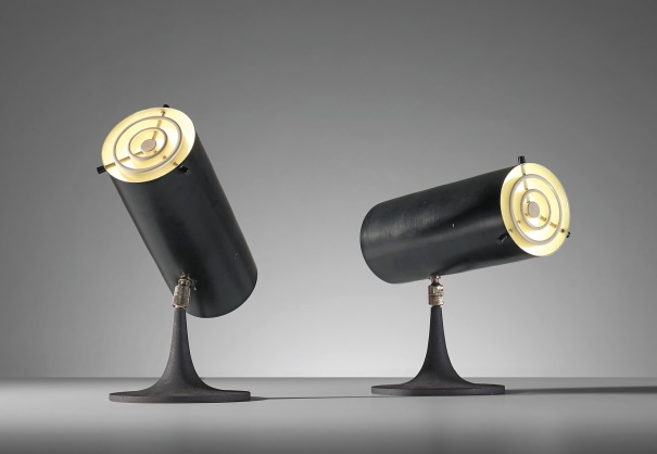 Pair of rare adjustable table lamps, model no. 569/N