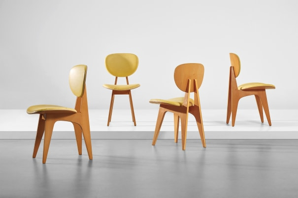 Set of four side chairs, model no. 3222