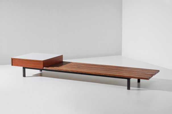 Bench with drawer, from Cité Cansado, Mauritania