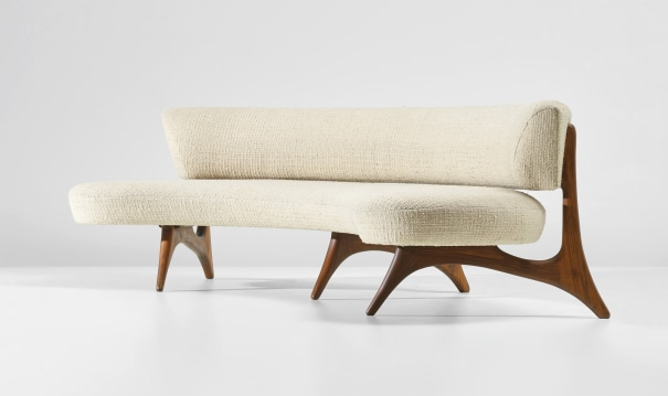 'Curved Floating Seat and Back' sofa, model no. 176SC