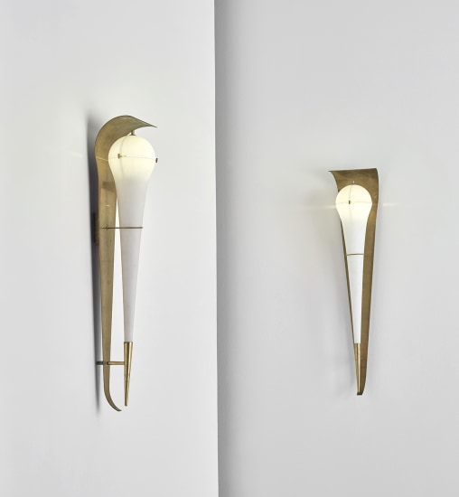 Pair of large wall lights, model no. 12824