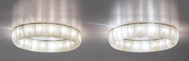 Pair of large and rare ceiling lights