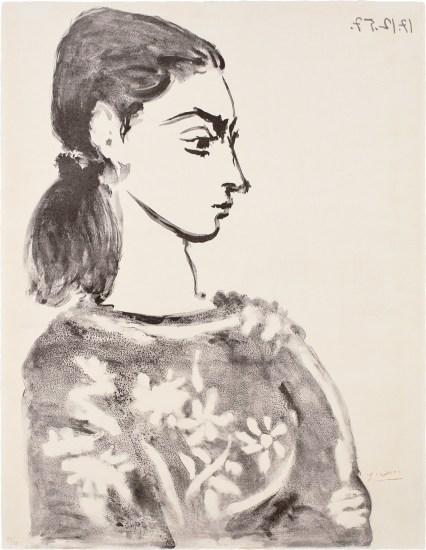 Femme au corsage à fleurs (Woman with Flower Bodice) (Jacqueline Roque)