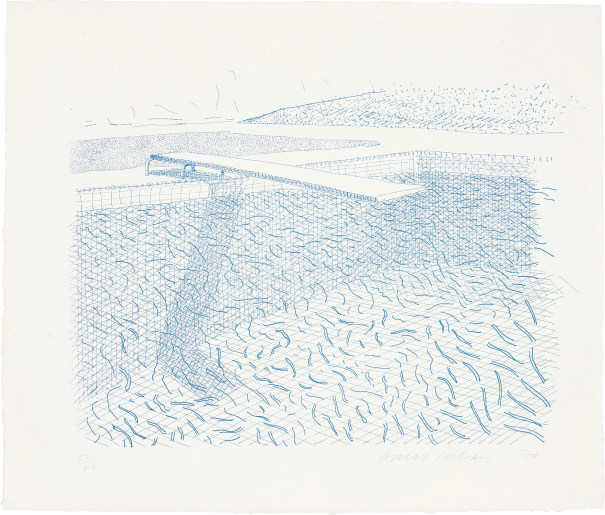 Lithographic Water made of lines